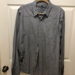 Men's Guess button down long sleeve Large